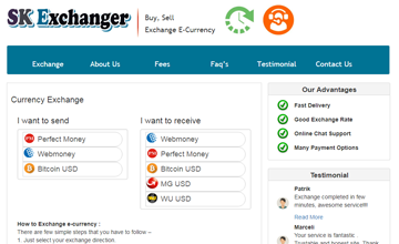 money exchange website