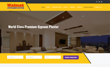Gypsum Plaster web design jaipur