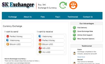money exchange website